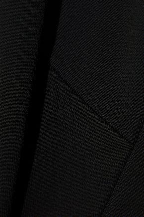 VICTORIA BECKHAM Crochet knit-paneled cady dress