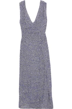 VICTORIA BECKHAM Pleated bouclé-tweed midi dress