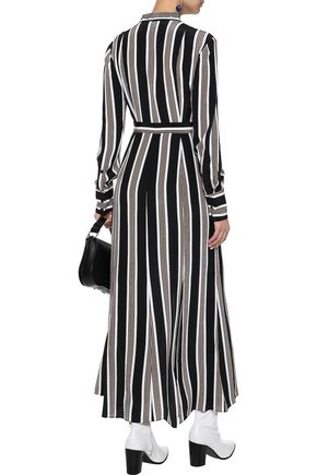DIANE VON FURSTENBERG Striped silk crepe de chine maxi dress