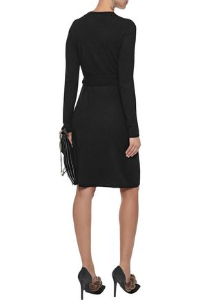 DIANE VON FURSTENBERG New Linda cashmere wrap dress