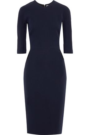 VICTORIA BECKHAM Wool and silk-blend crepe dress