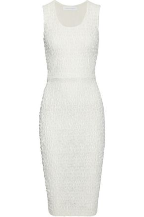 VICTORIA BECKHAM Smocked lace dress