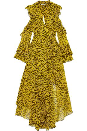 063f9780cd77 DIANE VON FURSTENBERG Cold-shoulder leopard-print silk-georgette maxi wrap  dress ...