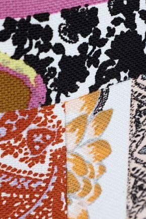 ETRO Patchwork-effect printed cotton-canvas mini dress