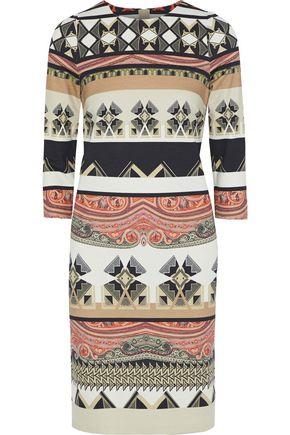 ETRO Printed stretch-knit mini dress