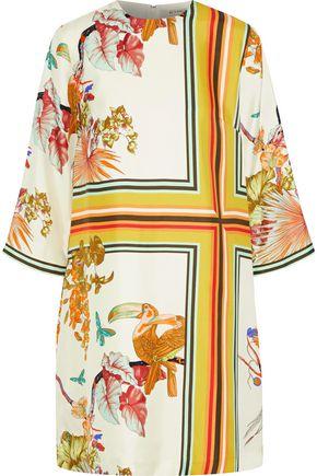 ETRO Printed silk-faille mini dress