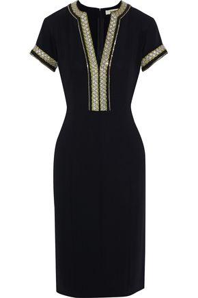 ETRO Embellished stretch-crepe dress