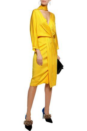 DIANE VON FURSTENBERG Wrap-effect cutout crepe dress