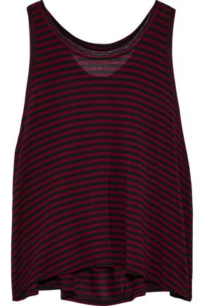 ENZA COSTA Striped jersey tank