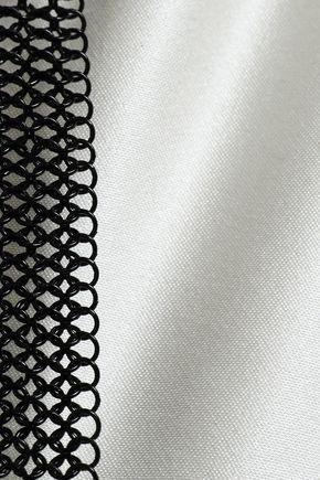 ALEXANDER WANG Chain-trimmed silk-satin gown