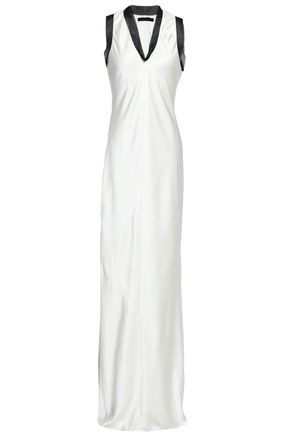ALEXANDER WANG Chain-trimmed silk-satin gown