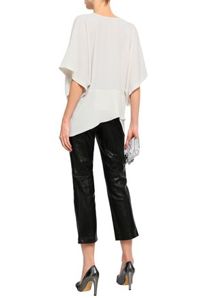 IRO Ekala draped crepe de chine top