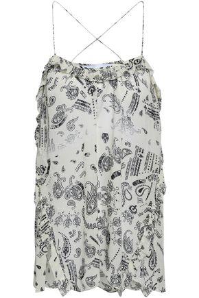 IRO Ruffled printed georgette camisole