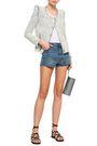 IRO Avel frayed two-tone denim shorts