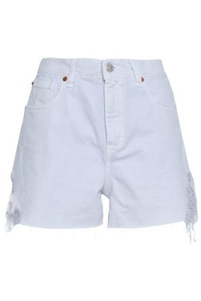 IRO Distressed denim shorts