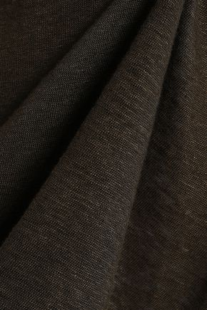 IRO Karami asymmetric lace-up slub linen-jersey top