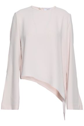 IRO Asymmetric cutout crepe top