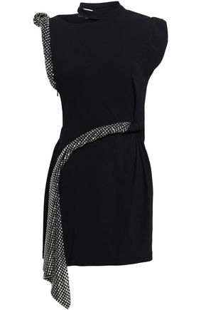 7d66cf98faa ALEXANDER WANG Cutout studded stretch-knit mini dress ...