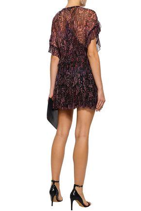 IRO Gilio ruffled printed georgette mini dress