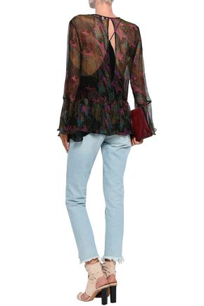 IRO Printed georgette blouse