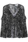 IRO Metallic fil coupé leopard-print georgette blouse
