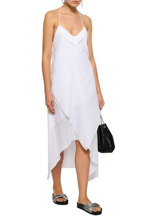 IRO Layered metallic striped cotton-blend dress