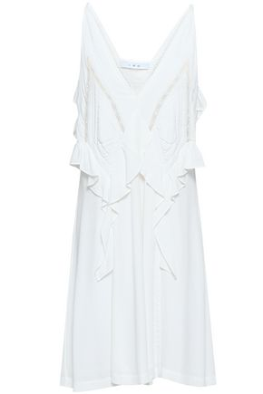 IRO Bercey lace-trimmed ruffled crepe dress