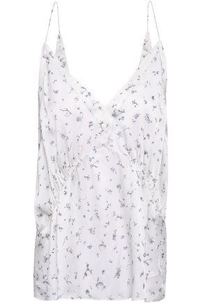 IRO Floral-print silk crepe de chine camisole