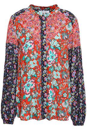 FRAME Floral-print crepe shirt