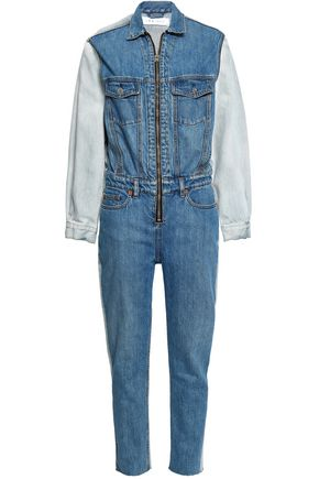 IRO Two-tone denim jumpsuit