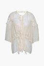 IRO Ruffle-trimmed jacquard blouse