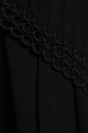 IRO Murilla crochet-trimmed crepe de chine top