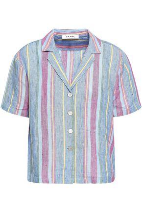 FRAME Striped linen shirt