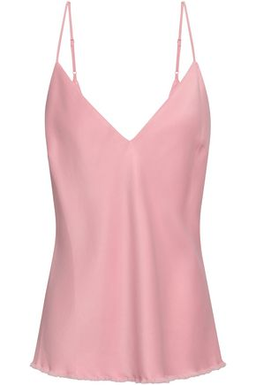 FRAME Satin-crepe camisole