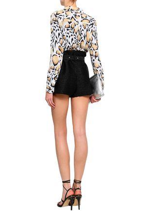 IRO Belted metallic tweed shorts