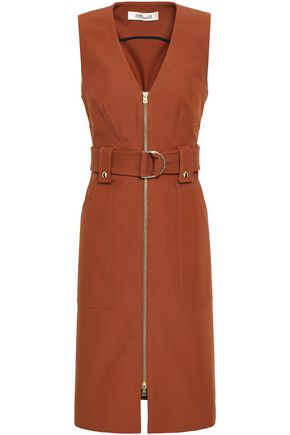 DIANE VON FURSTENBERG Zip-detailed cotton-blend dress