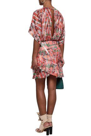 IRO Metallic printed fil coupé silk-blend mini dress