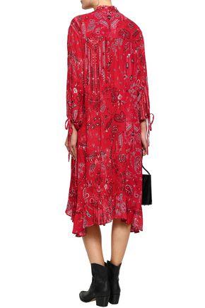 IRO Baphir ruffle-trimmed printed georgette midi dress