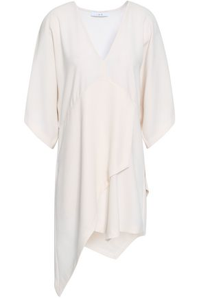 IRO Ekima asymmetric layered crepe mini dress