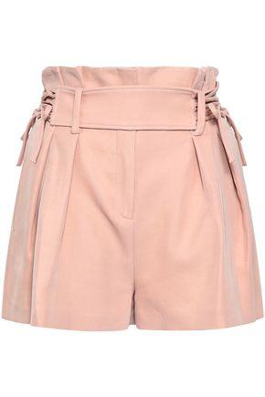IRO Lace-up twill shorts