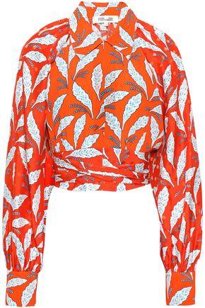 DIANE VON FURSTENBERG Printed silk-jacquard top