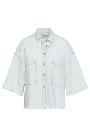 IRO Nikow frayed denim shirt