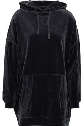 IRO Alevi oversized cotton-blend velvet hoodie