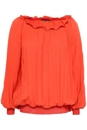 MISSONI Ruffle-trimmed woven blouse