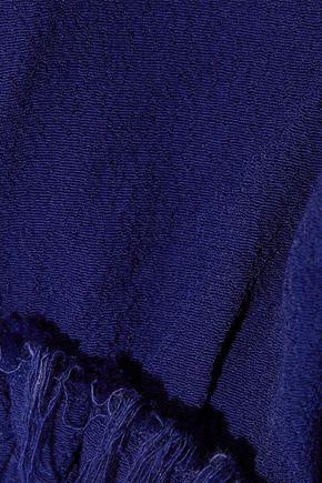 RAQUEL ALLEGRA Tulip frayed crepe midi dress