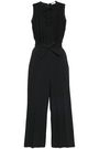 REDValentino Paneled point d'esprit and crepe jumpsuit