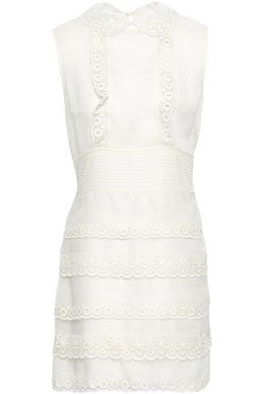 REDValentino Tiered embroidered organza mini dress