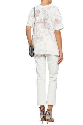 IRO Distressed cotton-blend top