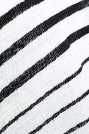 IRO Striped slub linen-jersey T-shirt