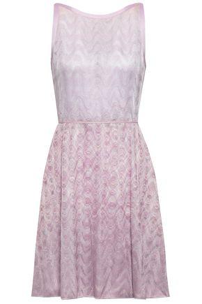 MISSONI Flared crochet-knit mini dress